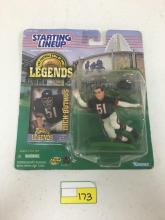 Starting Lineup Pro Football Hall of Fame Legends Figurine and Card - Dick Brutus