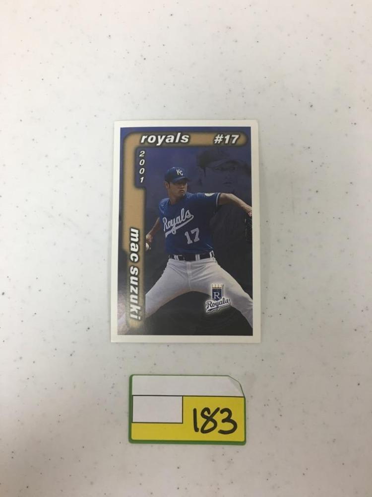 2001 Kansas City Life Insurance Baseball Cards - Mac Suzuki and Mike Sweeny, Half and Half in Box