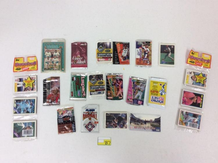 1980's and 90's Misc. Unopened Trading Card Packs