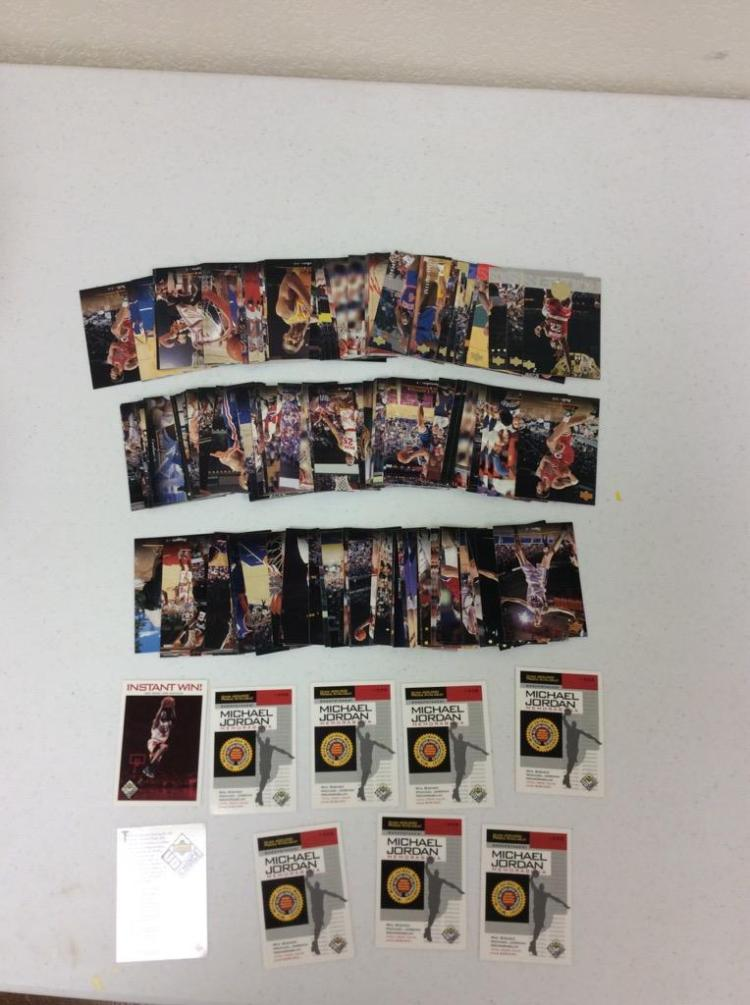 Upper Deck 1995 NBA Basketball Cards and1998 Upper Deck Michael Jordan Memorabilia Sweepstakes Cards Incl. Instant Winner