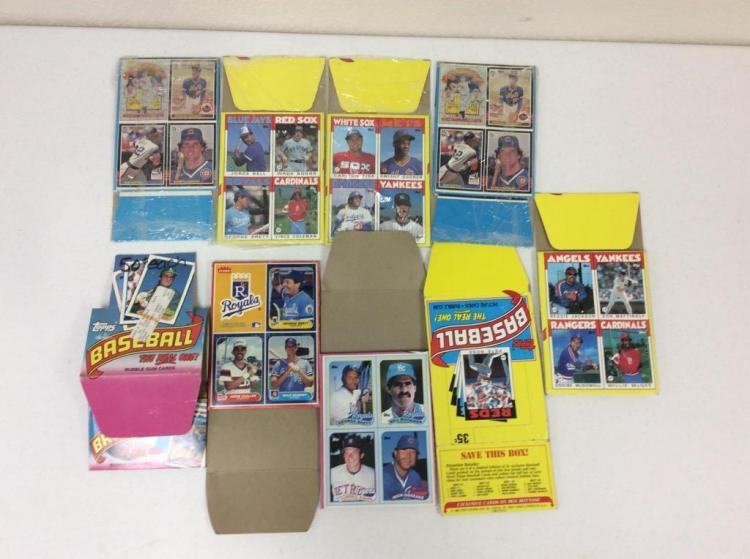 1980's Topps Bubblegum Baseball Card Boxes