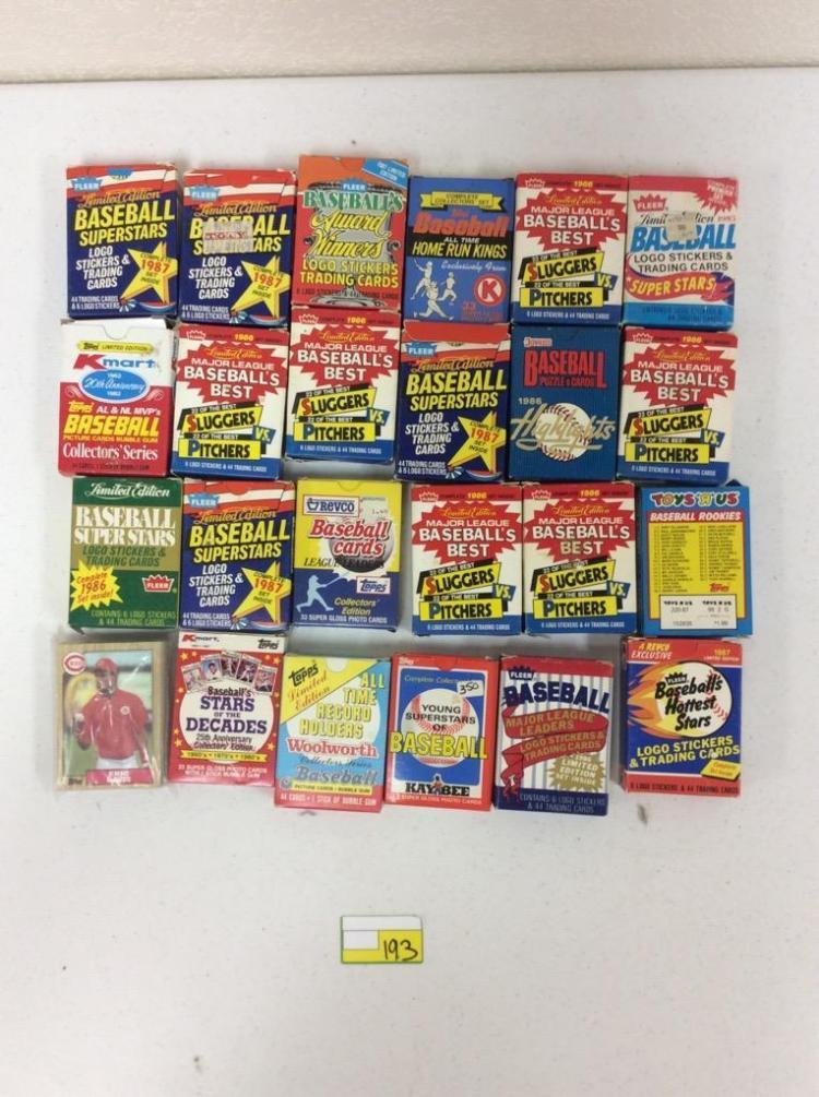 Misc. 1980's  Topps, Fleer, and Donruss Baseball Trading Card Sets
