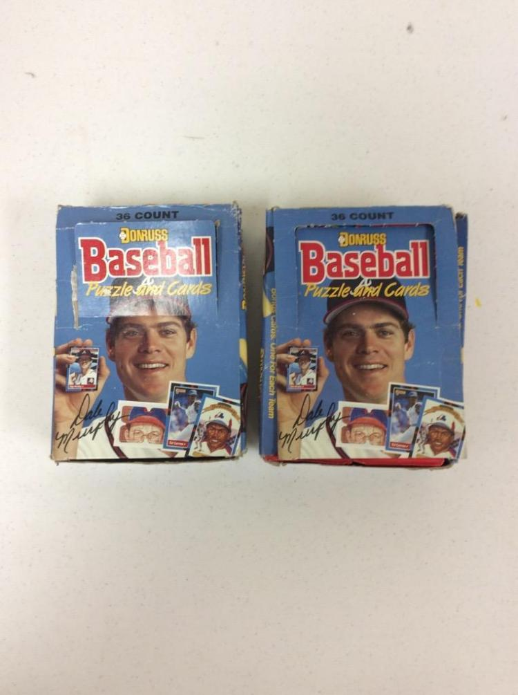 2 Packs of Donruss Baseball Puzzle and Cards