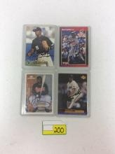 All for One Money: 4 1988-99 Autographed Donruss, Upper Deck, and Pacific Baseball Cards - Hernandez, Pickering, Durham, and Carter)