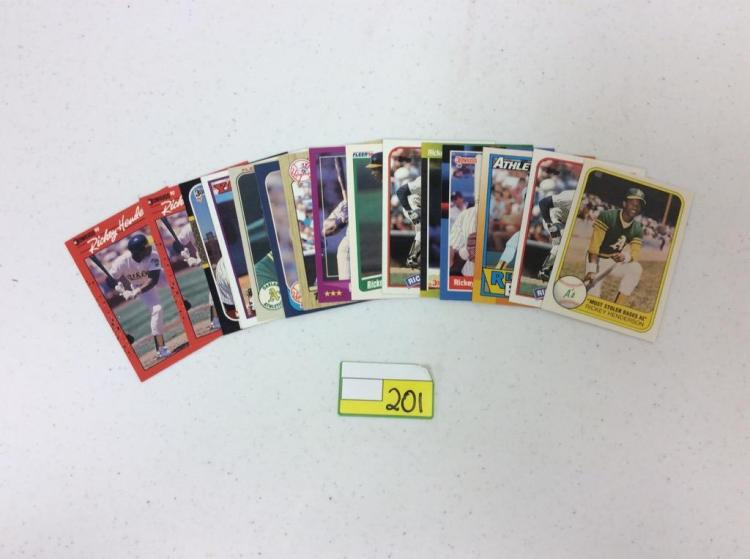 Misc. Topps, Donruss, and Fleer Baseball Cards - Ricky Henderson