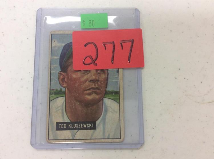 1951 Bowman Ted Kluszewski Cincinnati Reds Baseball Card