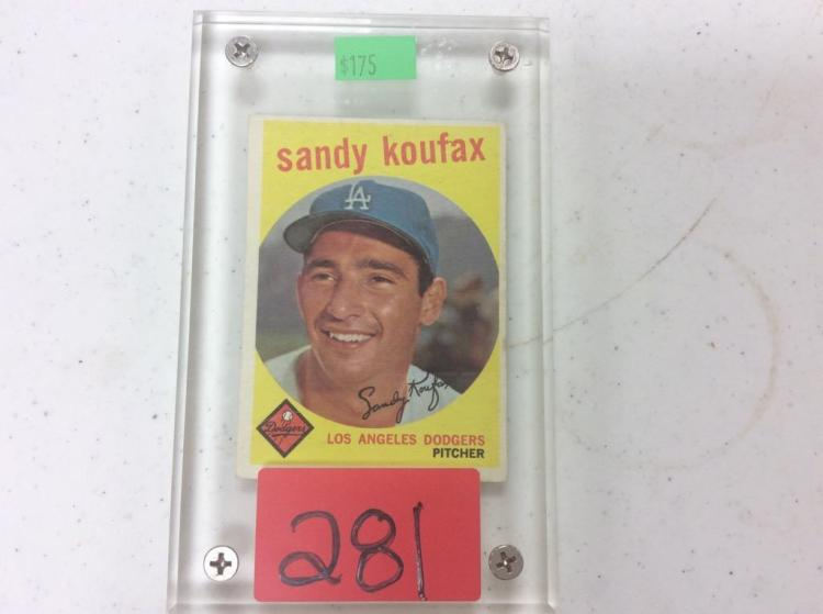1959 Topps Sandy Koufax - Los Angeles Dodgers Pitcher