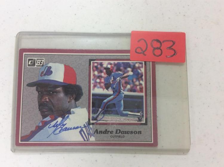 Andre Dawson - Outfielder- Montreal Expos autographed