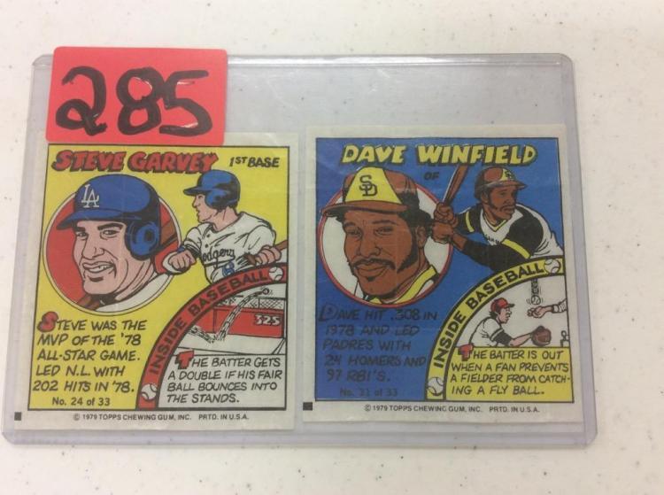 Steve Garvey & Dave Winfield - 1979 Topps Chewing Gum