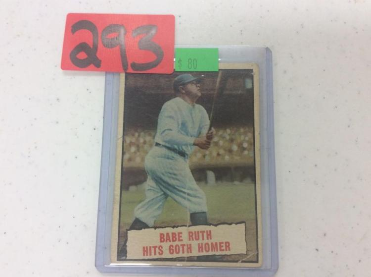 1961 Topps Babe Ruth Hits 60th Homer