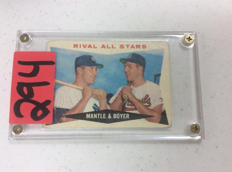 1960 Topps Rival All Stars - Mantle & Boyer