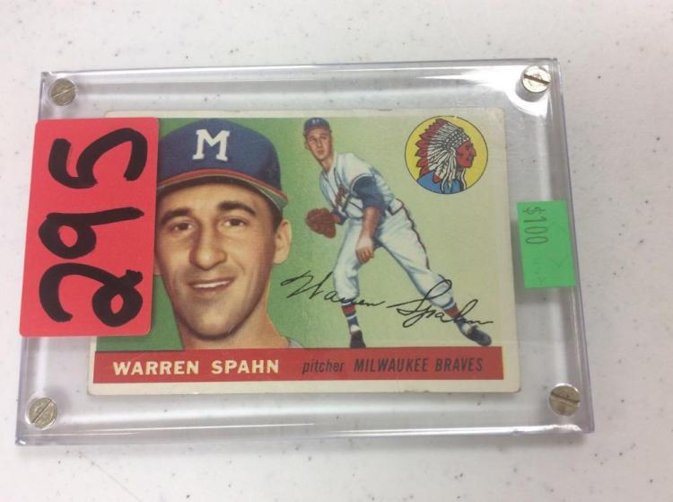1955 Topps Warren Spahn - Milwaukee Braves Pitcher