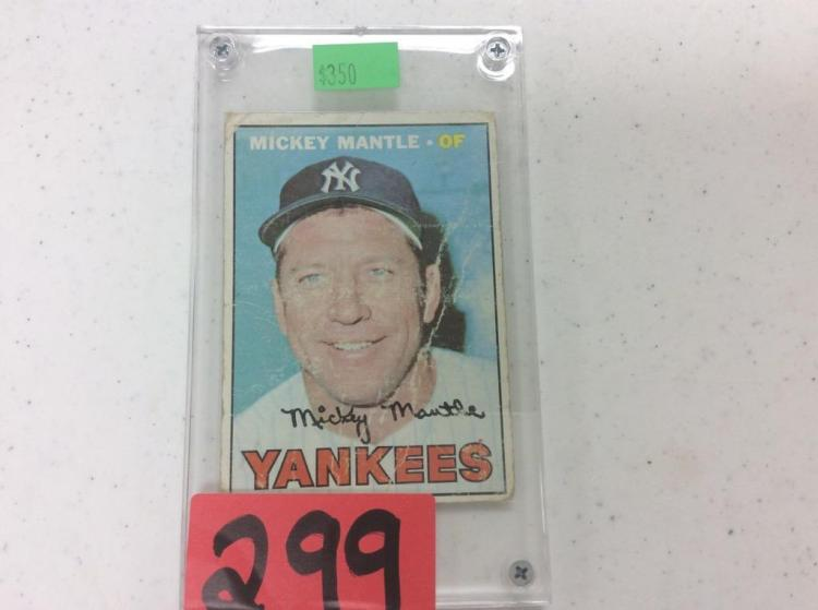 1967 Topps Mickey Mantle of Yankees