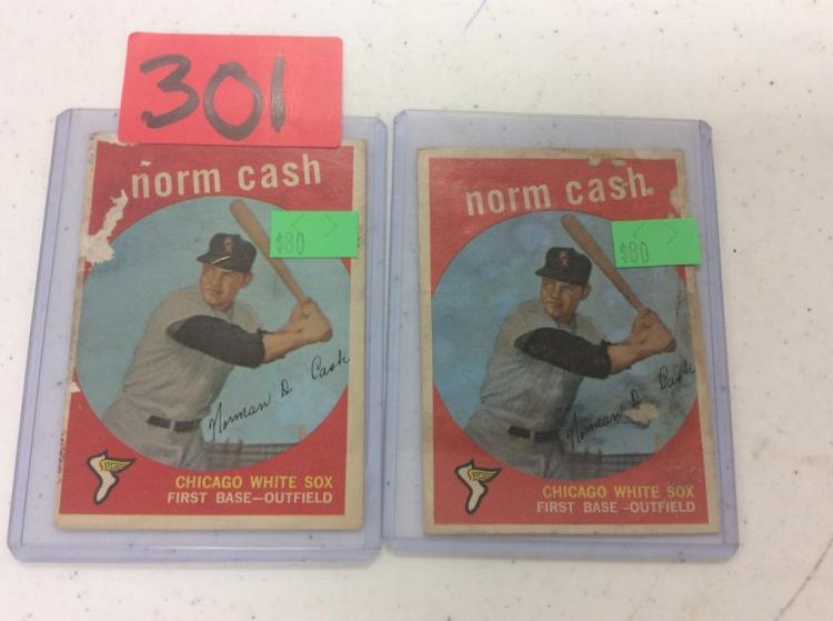 1959 Topps (2) Norm Cash - Chicago White Sox - All For One Money