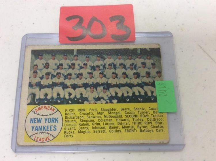 1958 Topps American League New York Yankees