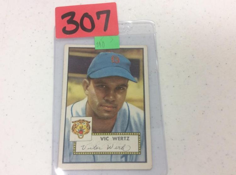 1952 Topps Vic Wertz - Detroit Tigers