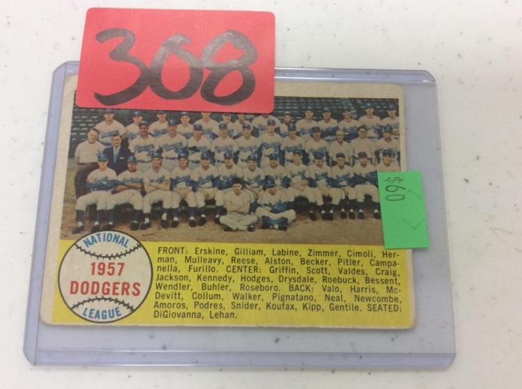 1958 Topps 1957 Dodgers National league