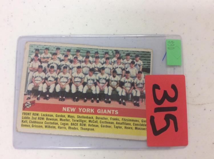 1956 Topps New York Giants Topps 226