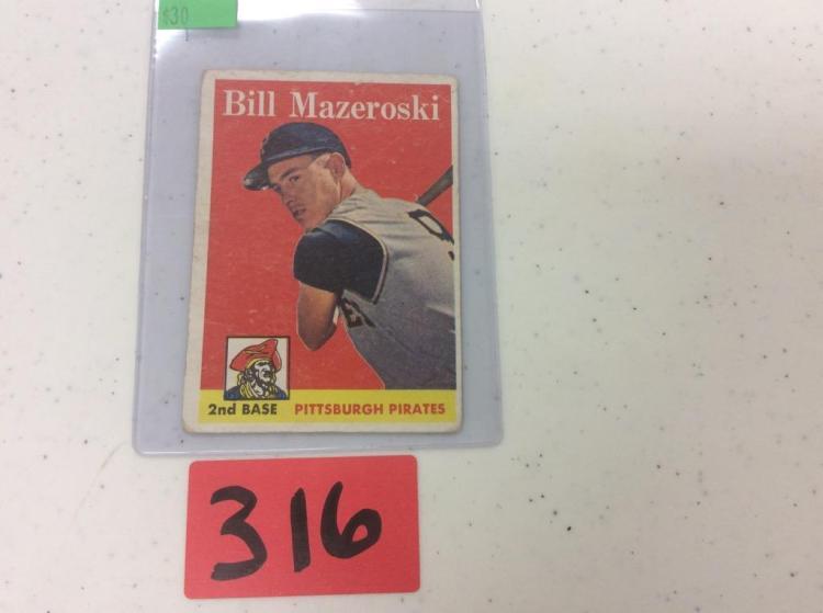 Topps 1958 Bill Mazeroski #238