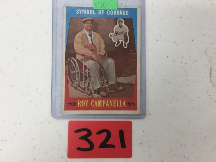 1959 Topps Roy Campanella Symbol of Courage 550