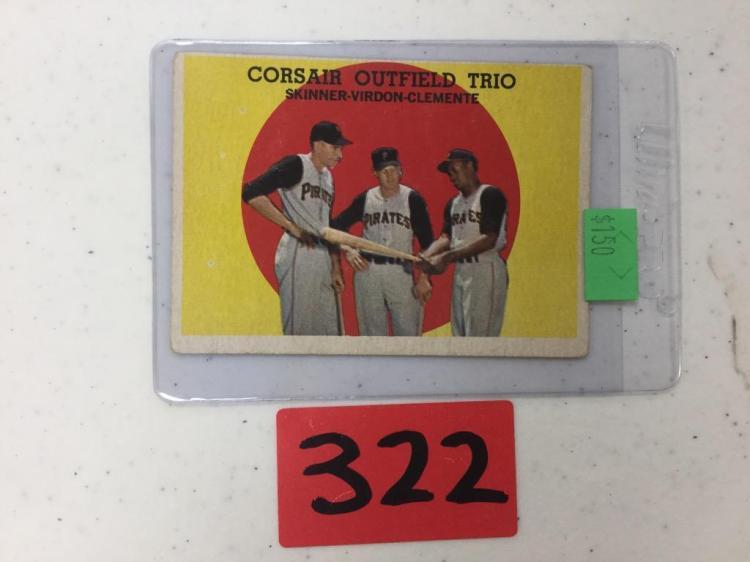 1959 Topps Corsair Outfield Trio 543