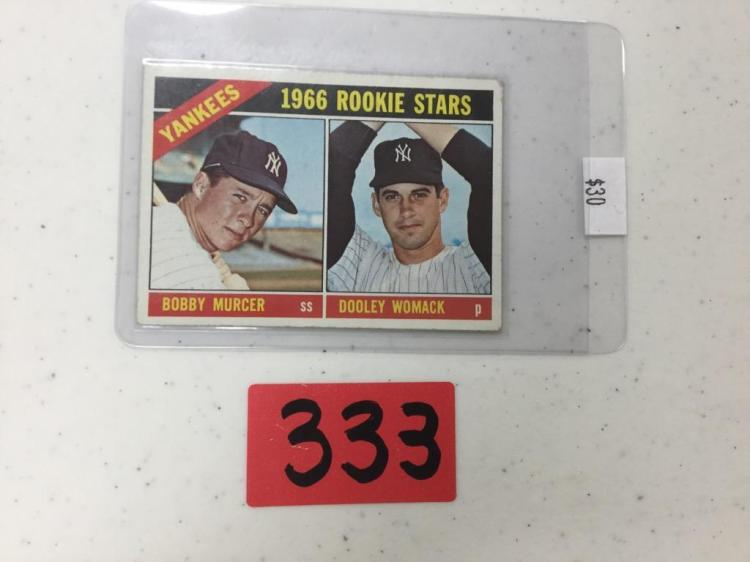 Topps 1966 Rookie Stars Yankees Murcer and Womack Card