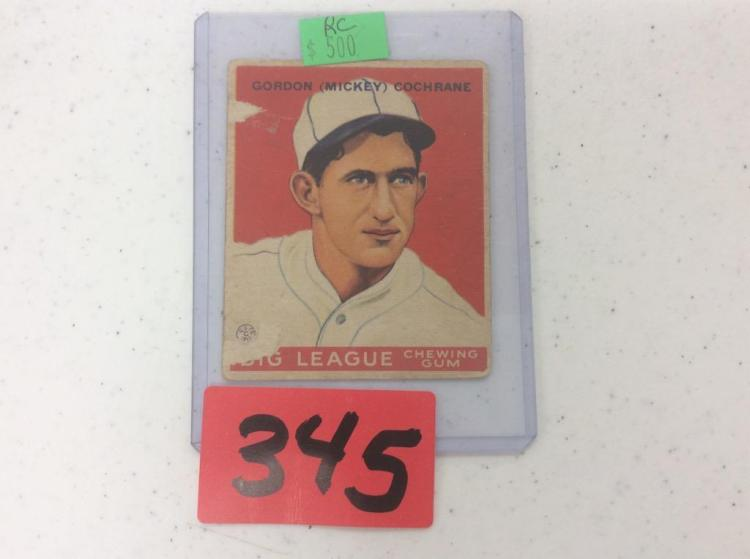 1933 Goudey Gum Co - No. 76 Gordon (Mickey) Cochrane