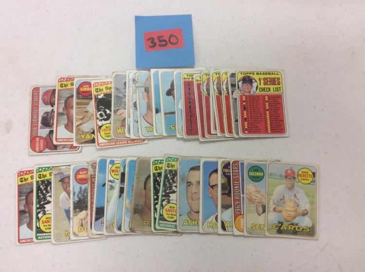 Lot of 41 Misc. Baseball Cards Topps 1969 - All For One Money