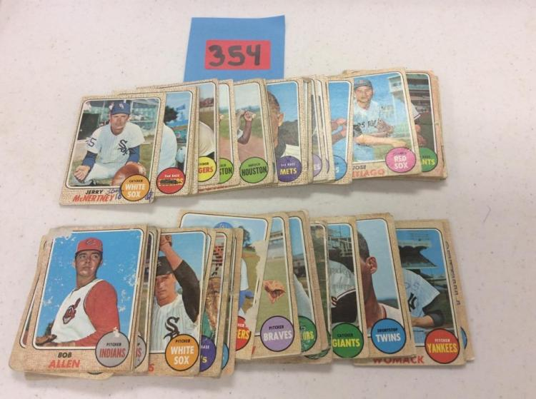 1968 Topps 14-477 Incomplete Set - (77) Cards All For One Money