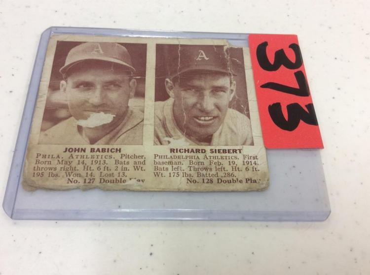 John Babich & Richard Siebert 1941 Double Header