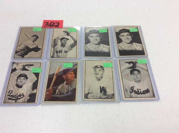 (8) 1953 Bowman Baseball Collector Series Cards - All For One Money