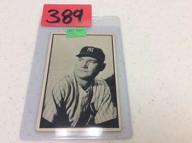 1953 Bowman No. 15 Johnny Mize