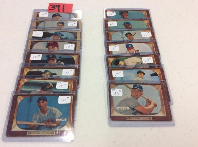 (15) 1955 Bowman Baseball Cards - All For One Money