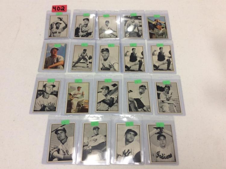 (19) 1953 Bowman Baseball Cards - All For One Money