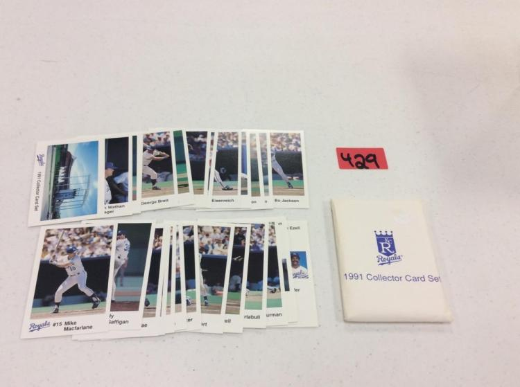 1991 Royals Collector Card Set