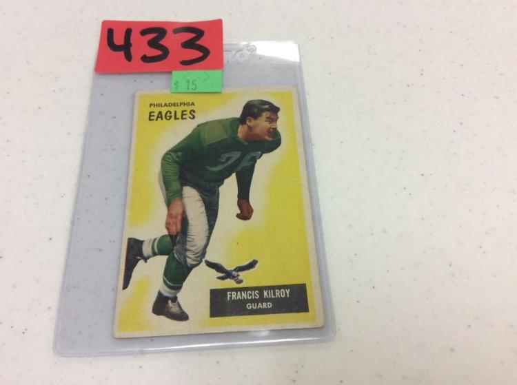 1955 Bowman Football 29 - Francis Kilroy