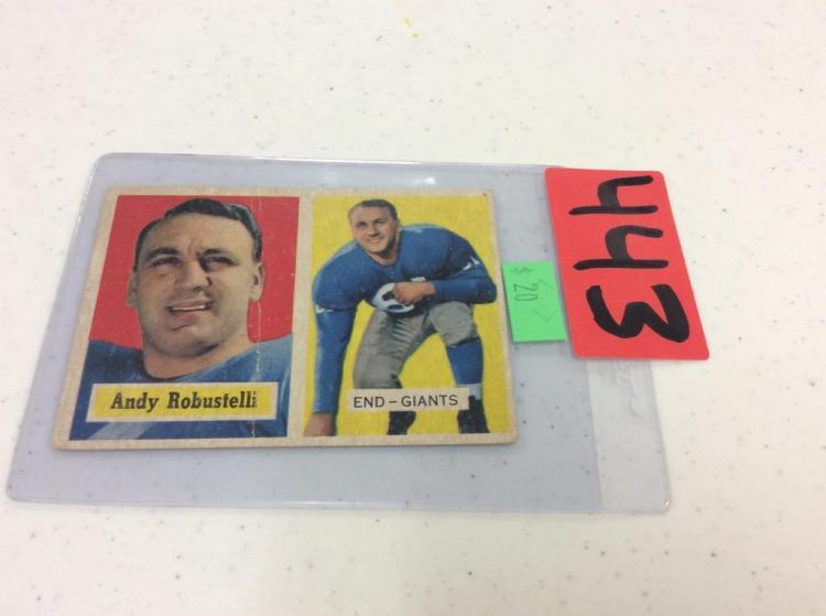 1957 Topps 71 Andy Robustelli