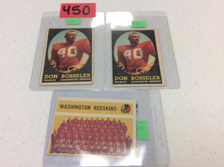 (2) 1958 Topps 132 Don Bosseler & Checklist