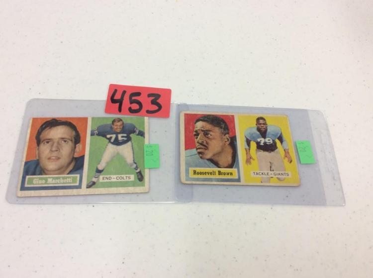 1957 Topps 5 Gino Marchetti  & 11 Roosevelt Brown