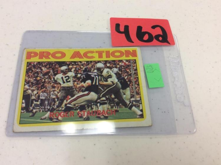 1972 Topps 122 Pro Action - Roger Staubach