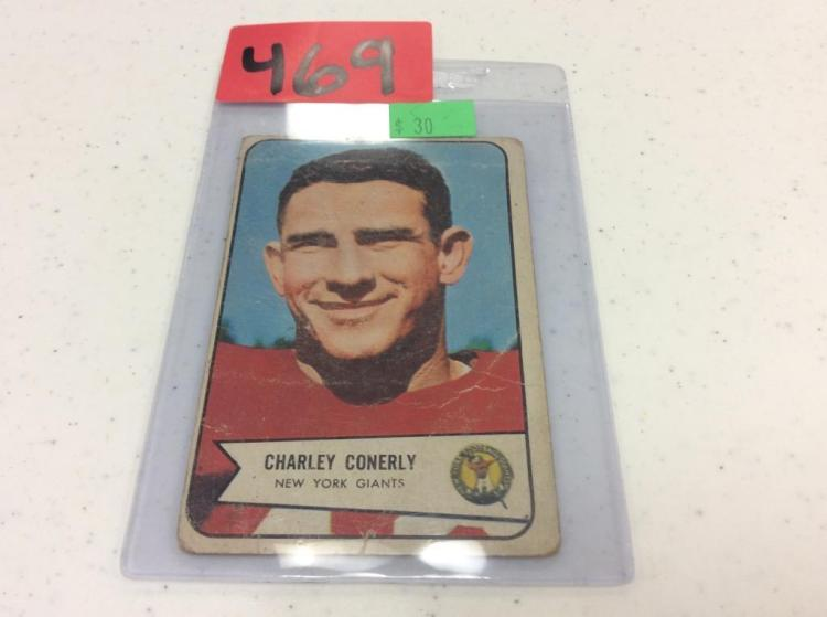 1954 Bowman 113 Charley Conerly