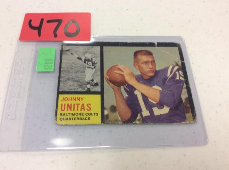 1962 Topps 1 Johnny Unitas