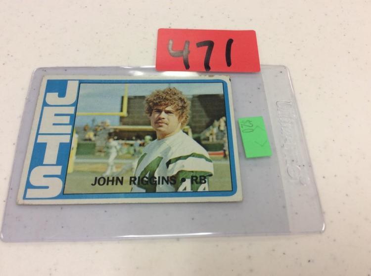 1972 Topps 13 John Riggins