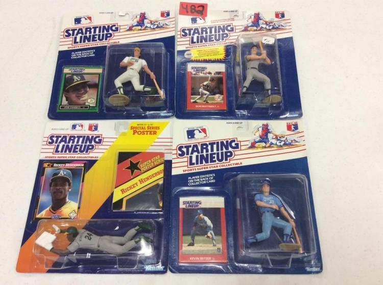 (4) Starting Lineup Sports Super Star Collectibles - All For One Money