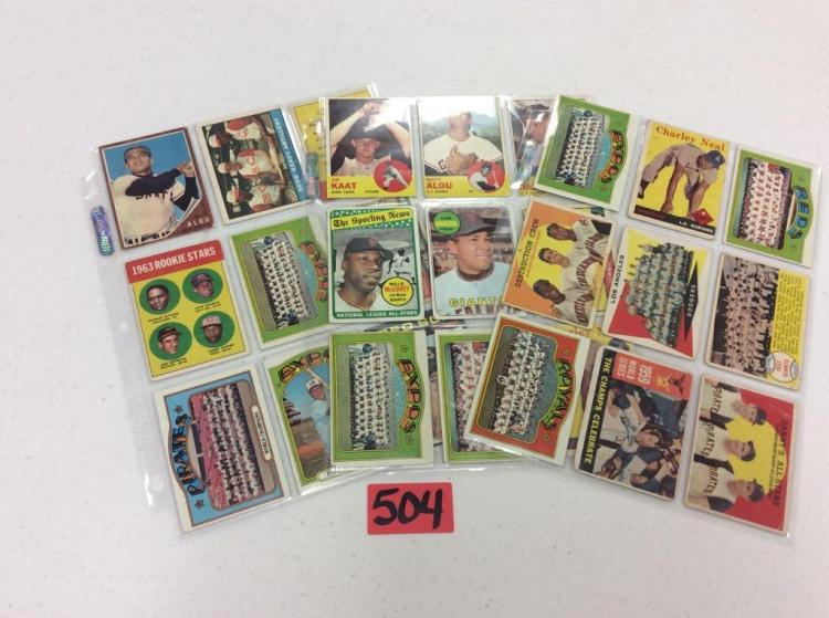 (3) Sheets of 1960's Topps Cards (27) - All For One Money
