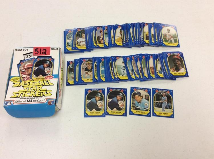 Fleer Baseball Star Stickers Collectors Series - #1-125 + Duplicates - All For One Money