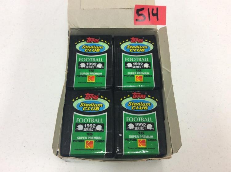 Topps Stadium Club Football - 1992 Series 1 Super Premium Picture Cards - Missing Some Packages
