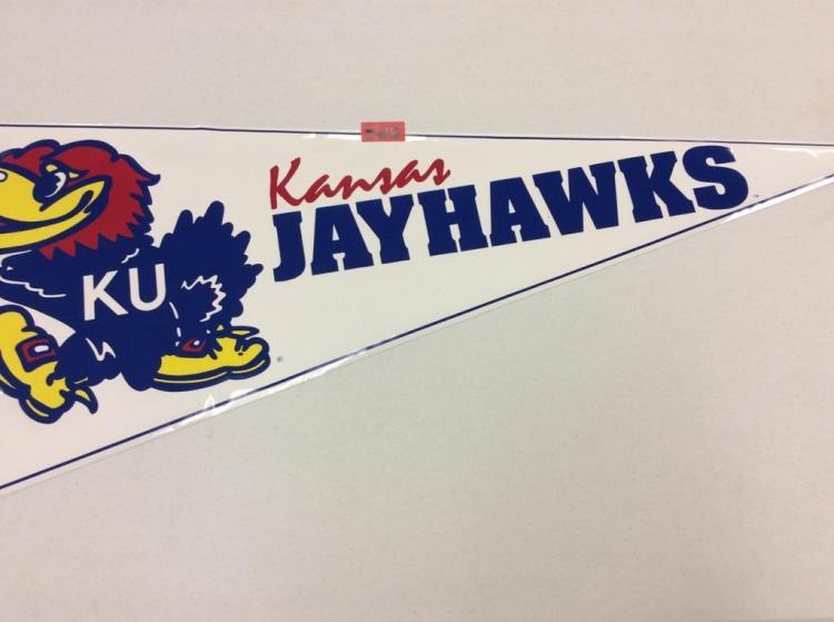 Kansas Jayhawks Super Pennant - 4 /14 ft long Vinyl?