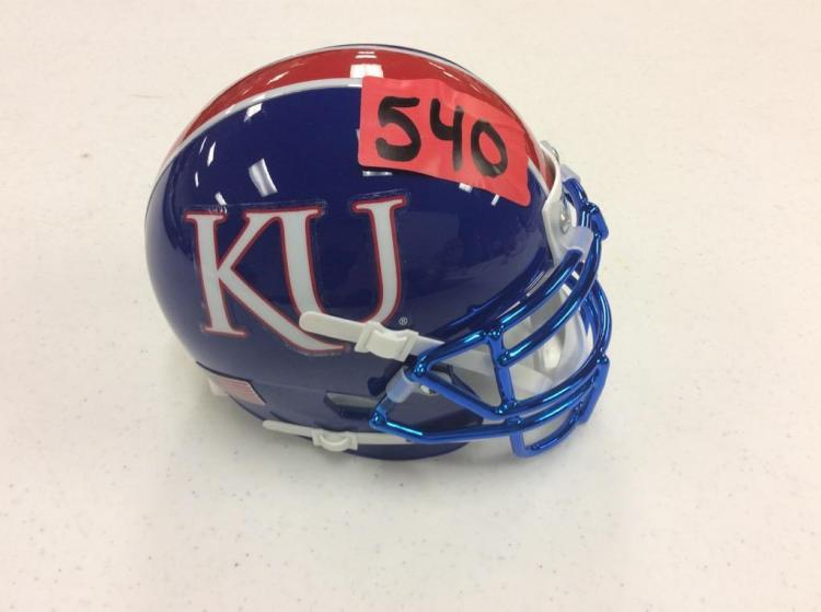 Small KU Football Helmet