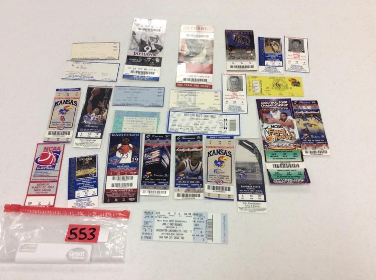 (25) KU Ticket Stubs - All For One Money